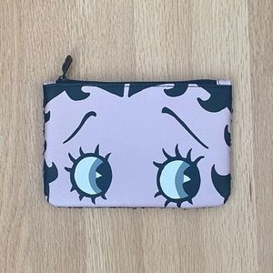 2/$10 Betty Boop Sequin Black Pink Ipsy Bag